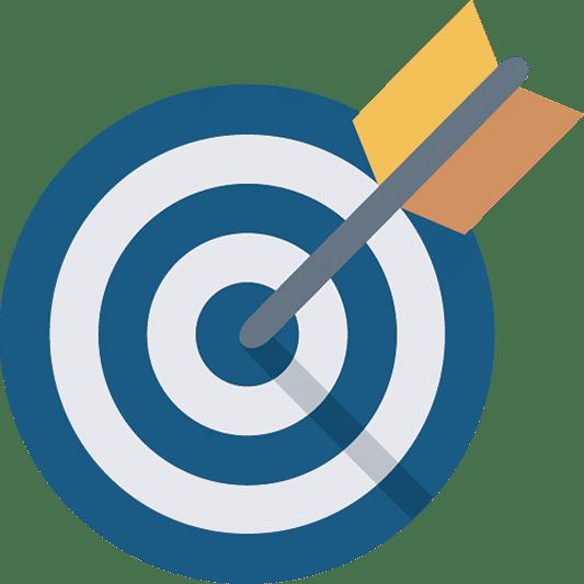 Image of Blue Target with Arrow for JONRDRAPER